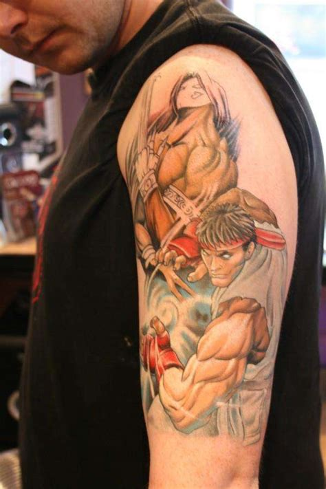 street fighter tattoo fighter designs 15 of the best