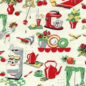 fabric retro vintage best 50s kitchen jadeite jadite 1y