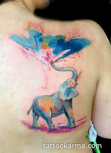 watercolor tattoo in nyc watercolor elephant