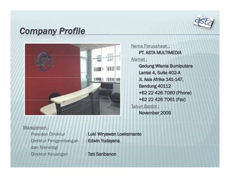 contoh layout profil perusahaan company profile perusahaan jasa dunia it