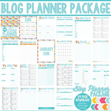 blog planner printable free 2015 5 best images of 2015 printable blog planner 2015 free