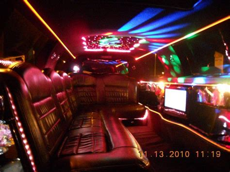 limos with tubs in them inside limo with cool lights on our limousine fleet