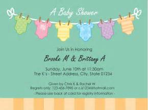 shower invitation templates free free baby shower invitation template wblqual