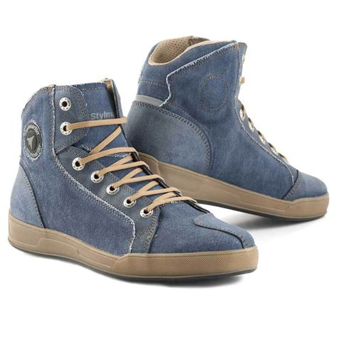 motorcycle sneaker boots stylmartin melbourne motorcycle sneakers denim blue