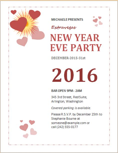 new year s templates for word new year event party flyer template word excel templates