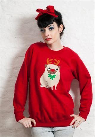 pug jumpers 3377 be jealous fleece top sweats jumper sweatshirt t shirt reindeer and