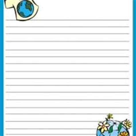 planet writing paper earth day stationery