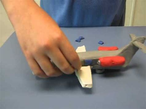 How To Make A Model Airplane Out Of Paper - how to make an airplane with modeling clay