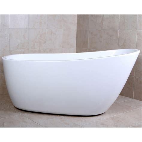 freestanding slipper bathtubs modern white kono freestanding single slipper bathtub