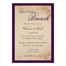 wording for wedding breakfast invitation post wedding brunch script purple 3 5 quot x 5 quot invitation