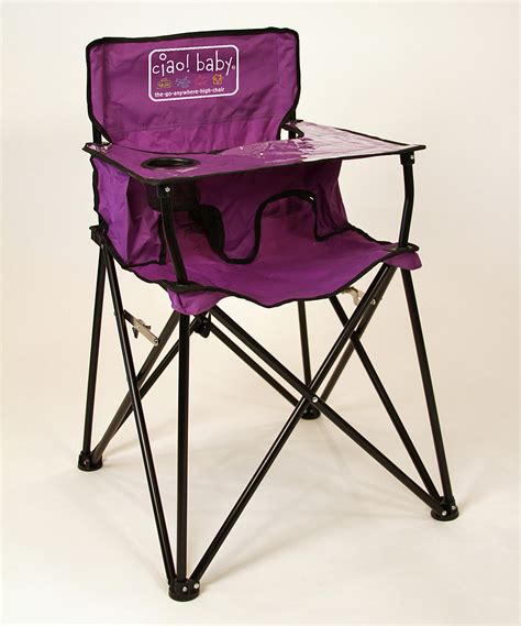 Travel High Chair With Tray by Ciao Baby Purple Travel High Chair Zulily