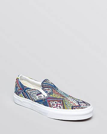 mens patterned vans vans unisex flat sneakers classic patterned canvas slip