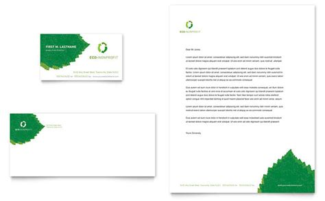 Nonprofit Business Card Templates by Environmental Non Profit Business Card Letterhead