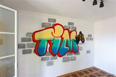 agréable Photo De Chambre Fille #5: Anniversaire-graffiti-chambre-Tim-11ans-6.jpg