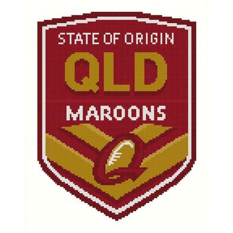 logo qld cross stitch pattern for queensland state of origin logo