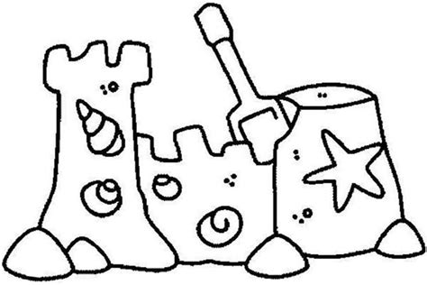 free coloring pages sand castle sand castle drawing cliparts co