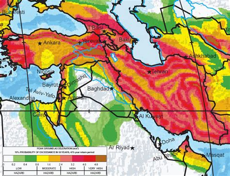 middle east earthquake map the greatest earthquake zones on earth middle east and