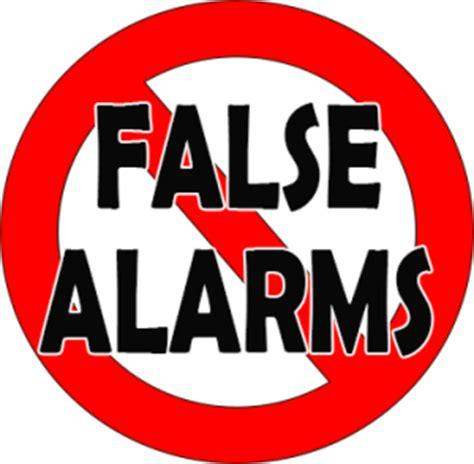 how to prevent false alarms