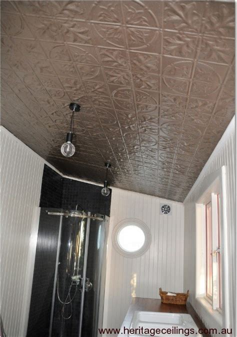 Tin Ceiling In Bathroom by Decorative Ceiling Project Using Pressed Metal Panels