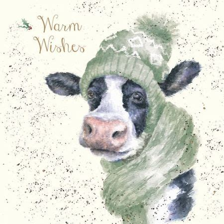 wrendale designs christmas card moo rry christmas oaklands country supplies