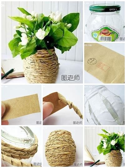 home decor using recycled materials how to use recycled material to make flower vase step by