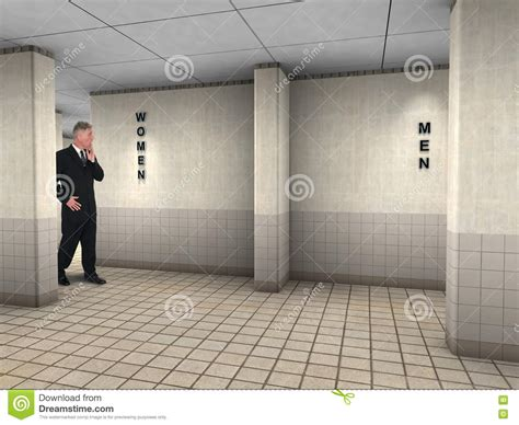 mens public bathroom funny man wrong public restroom stock photo image 72464841