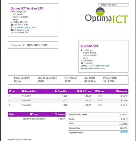 odoo design invoice professional invoice sales order templates odoo apps