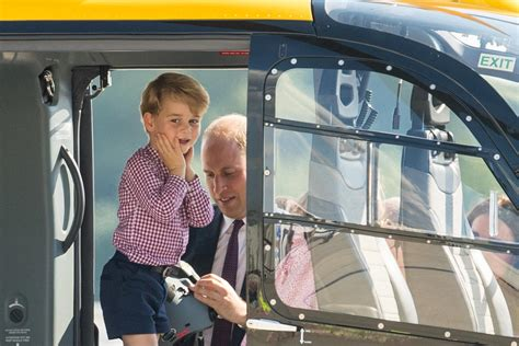 helicopter crazy prince george  smiles  chopper