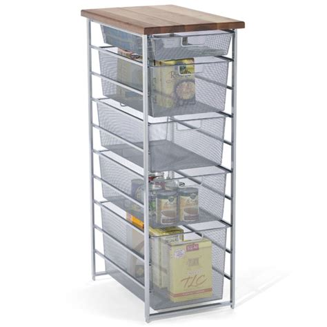 Container Store Elfa Drawers by Platinum Elfa Mesh Pantry Storage The Container Store