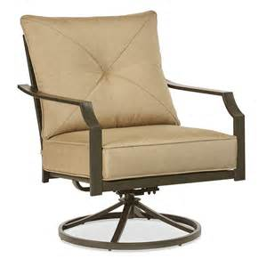 Patio Furniture Chair by Shop Garden Treasures Vinehaven 2 Count Brown Steel Swivel