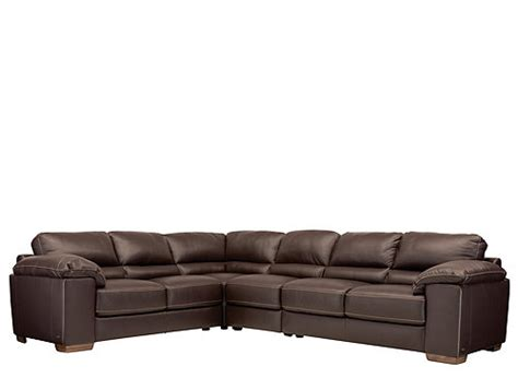 cindy crawford leather sectional cindy crawford maglie 4 pc leather sectional sofa