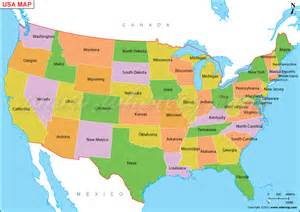 map of america with states us map or map of united states of america shows 50 usa