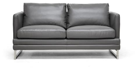 loveseat contemporary dakota pewter gray leather modern loveseat contemporary