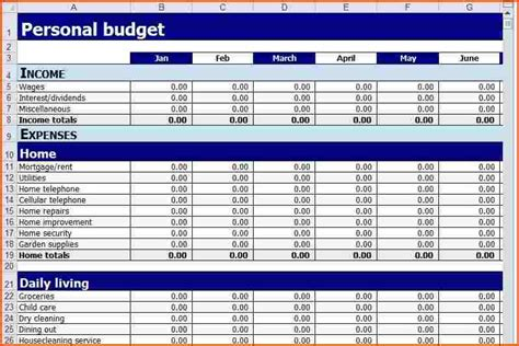 Personal Finance Spreadsheet by Personal Budget Spreadsheetmemo Templates Word Memo