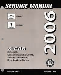 service manuals schematics 2006 chevrolet cobalt electronic valve timing 2006 chevrolet cobalt pontiac pursuit factory service manual