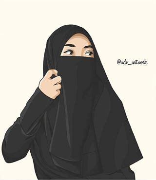 Hijab Cantik Bercadar Gambar Kartun Muslimah Bercadar Pakaian Syar