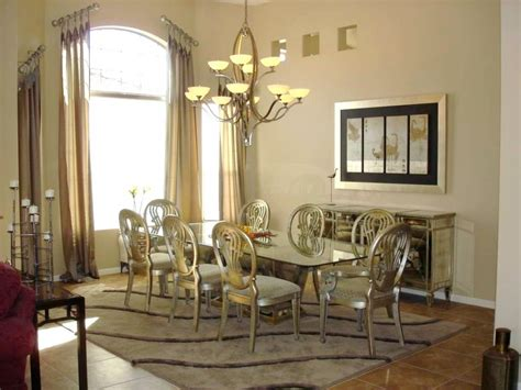 table and chairs in dining room