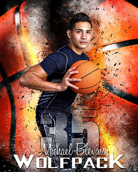 Sports Poster Photo Template For Basketball Basketball Inferno Basketball Poster Template