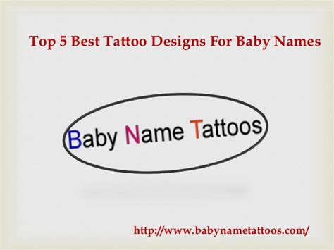 top 5 best tattoo designs for baby names