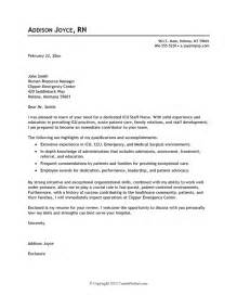 Exle Cover Letter Resume by Cover Letter Exle Nursing Careerperfect