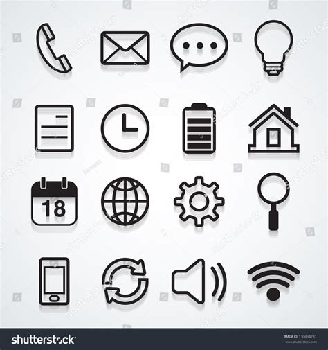 stock mobili mobile icon vector 130434731