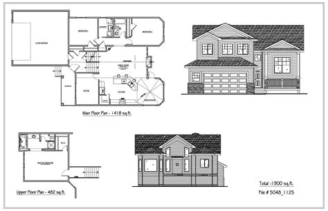 Bi Level House Plans by Bilevel Houses