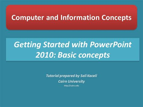 Getting Started With Powerpoint 2010 The Very Basics Of Where Can I Get Powerpoint For Free