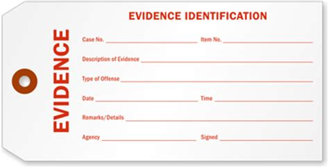 printable evidence labels police evidence tags