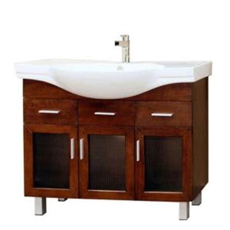 Porcelain Vanity Sink Tops Bellaterra Home Metro 40 In Single Vanity In Walnut With