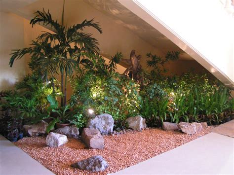 inside garden indoor garden design usefull under stairs