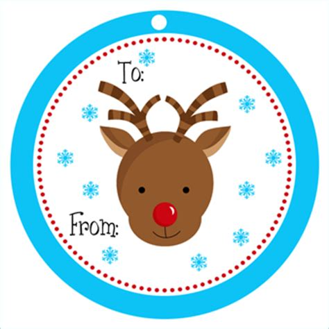 printable reindeer christmas tags reindeer holiday gift tag