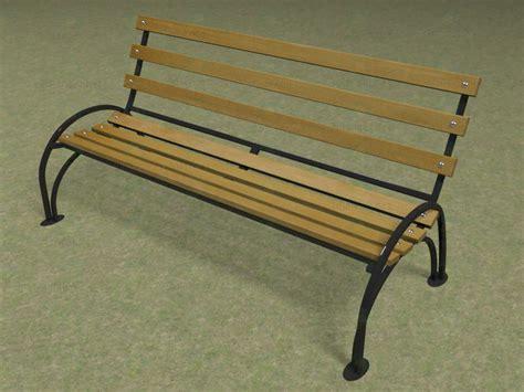 bench models 3d model park bench