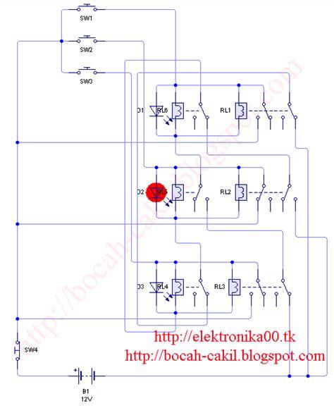 Bel Kuis rangkaian bel kuis menggunakan relay