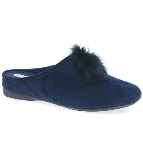 pomeranian slippers cosdam pom pom womens slip on mule slippers charles clinkard